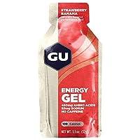 GU 1.1 oz. Energy Gel Strawberry Ban SGL One Size [並行輸入品]