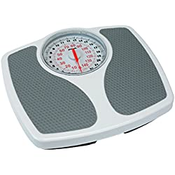 NEW PROPERT SPEEDO MECHANICAL BATHROOM SCALE WHITE + GREY 150kg Kilo Stone