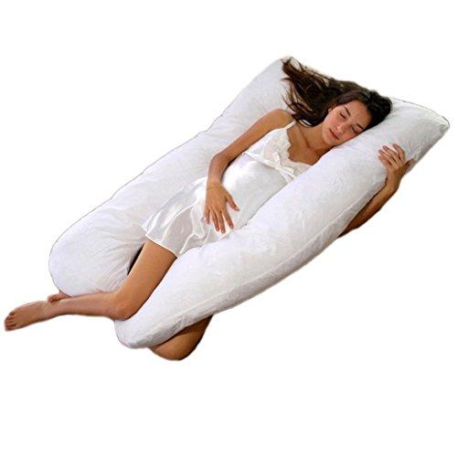 Meiz 第三世代 両面 多機能 妊婦抱き枕 妊婦枕 横寝 哺乳 U型妊婦枕 ホワイト