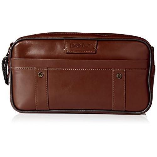 Dopp 04947 Veneto Soft Sided Multi-Zip Travel Kit, Brown