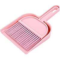 Everyfit テーブルホーキ ちりとり付き ミニほうき&ちりとりツールセット テーブルブラシ テーブル掃除 隙間掃除 (ピンク)