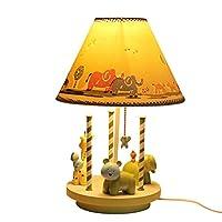 創造的な子供ランプの目の保護、机の横の子供のギフトの樹脂の彫版は寝室のためのランプ E27 を調査するか、または居間を (光源無し)