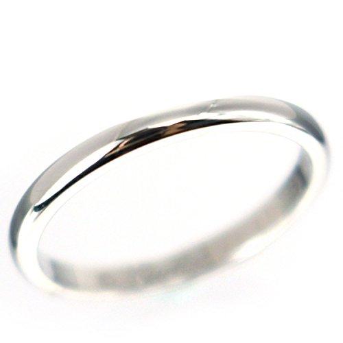 カルティエ Cartier ウェディング リング 指輪 7号 プラチナ レディース 中古