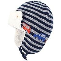 LLmoway Baby Toddler Winter Fleece Earflaps Hat Kids Knit Beanie Trapper Hats