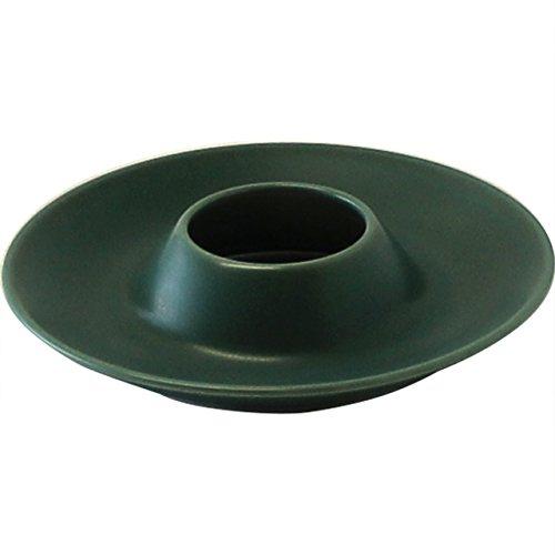 白山陶器 たまごたて グリーンマット (約)φ12.5×2.5cm EGG STAND 波佐見焼 日本製