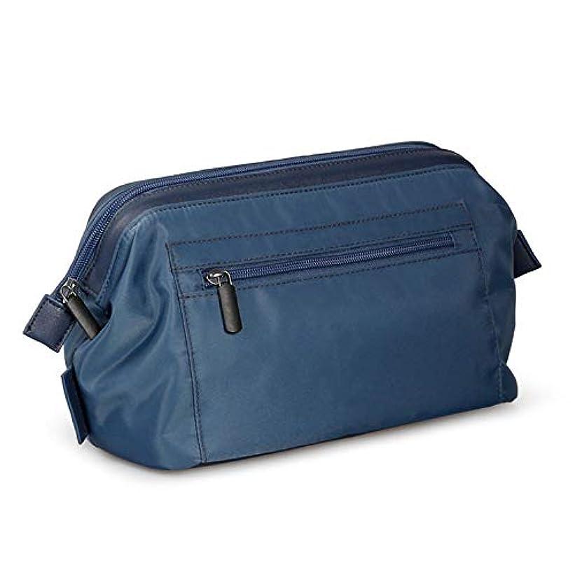 フェッチ超える最小防水大容量化粧ケース大ホルダートイレタリーバッグオーガナイザー収納用男性女性-blue
