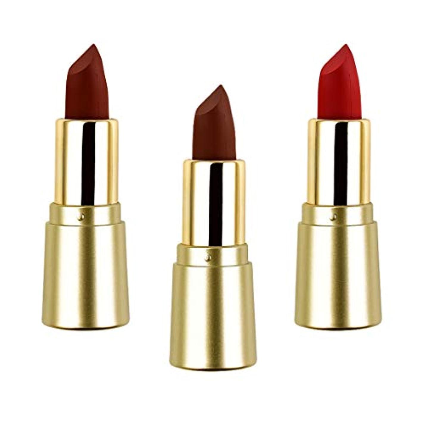 インタビュー透過性の間でSM SunniMix 3色 口紅セット マットリップスティック ミニマット ベルベット 保湿効果 無光沢 長持ち色 防水性