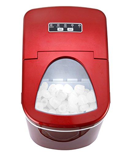 Shop405 製氷機 家庭用 新型 高速 自動製氷機 【 氷 2サイズ 】 かき氷 レジャー アウトドア 簡単 大容量 レッド 405-imcn01