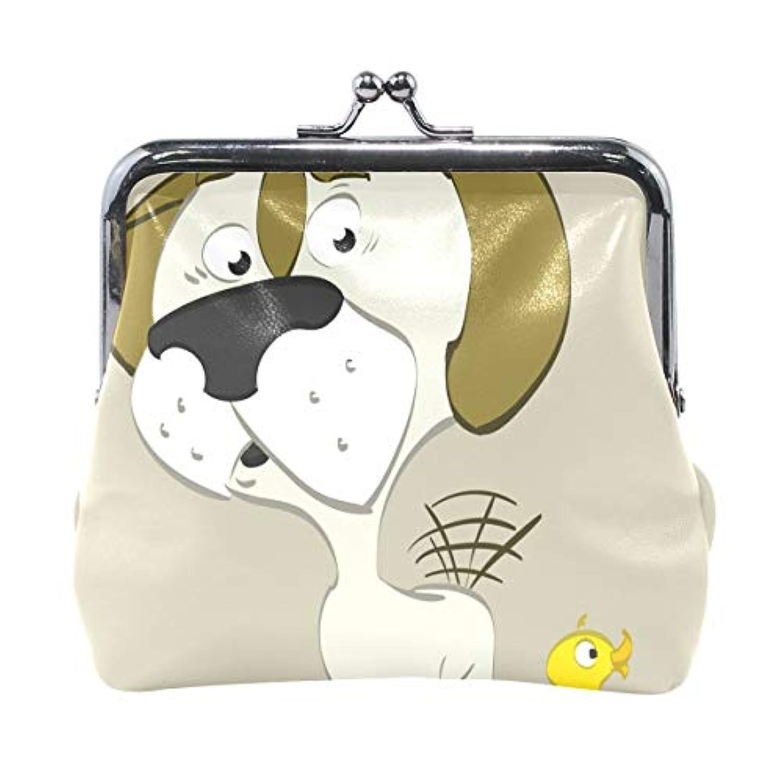 がま口 財布 口金 小銭入れ ポーチ いぬ ダック Jiemeil バッグ かわいい 高級レザー レディース プレゼント ほど良いサイズ