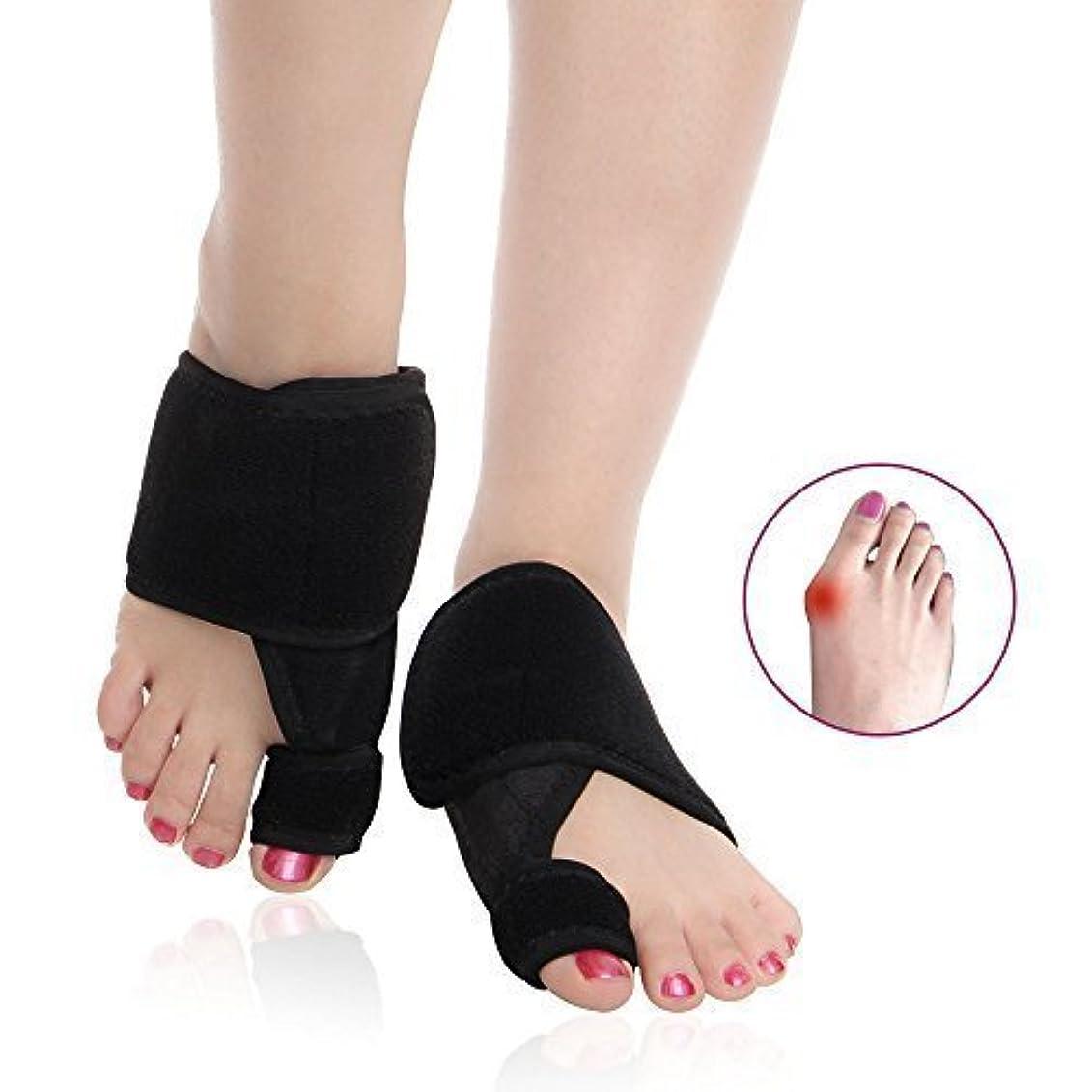 [Toe Glow] 外反母趾 サポーター 足 親指 矯正 ベルト 黒 フリーサイズ