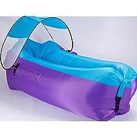 インフレータブルラウンジチェア、屋外ポータブルエアーソファソファー寝袋ビーチシェードキャンプハイキングビーチバーベキューフィッシングキャンプピクニック