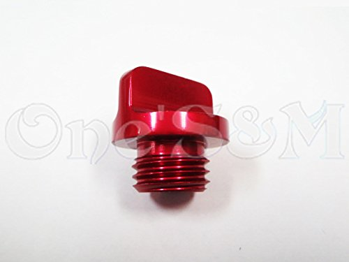 I-2-3 オイルフィラーキャップ 赤 KS-1 KSR-1 KDX125SR KDX200SR KDX220R KLX250 KLX250SR KLX250ES D-トラッカー KR-1 スーパーシェルタ ER-6F ER-6N