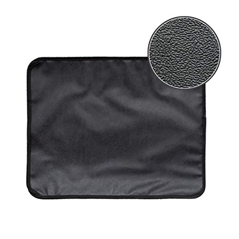 ラッドヤードキップリングドット揺れるSaikogoods 高弾性EVA 防水ボトム層と猫のトイレマット ブラック ダブルレイヤー 猫のトイレトラッパーマット 黒