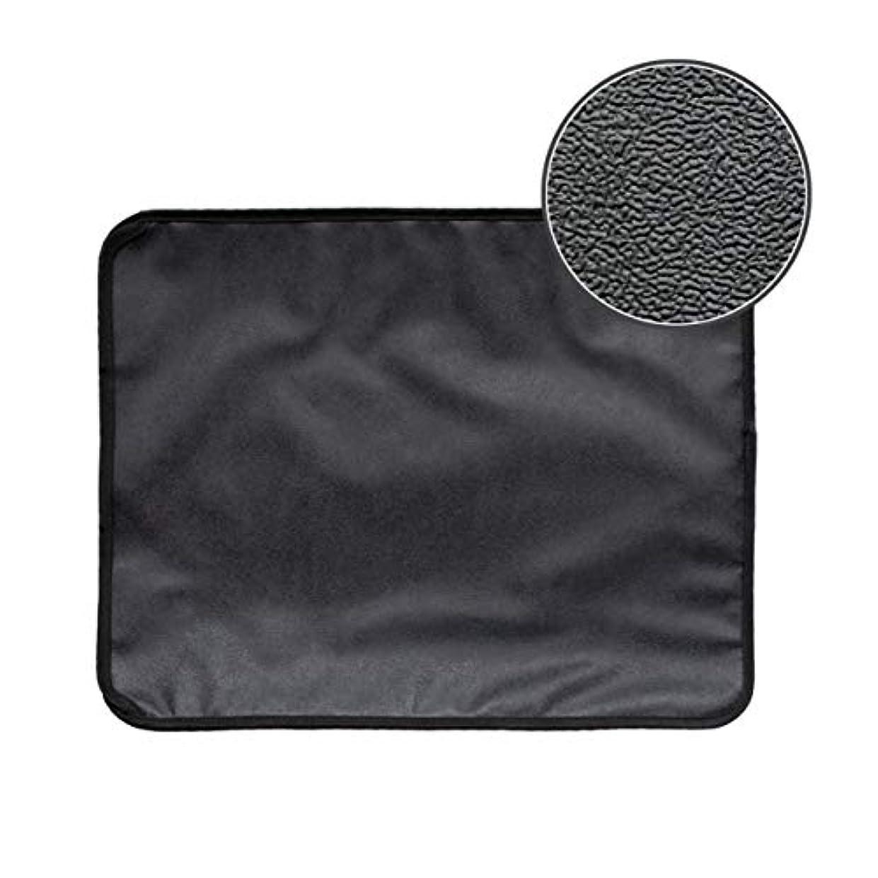 発言する暗いネットSaikogoods 高弾性EVA 防水ボトム層と猫のトイレマット ブラック ダブルレイヤー 猫のトイレトラッパーマット 黒