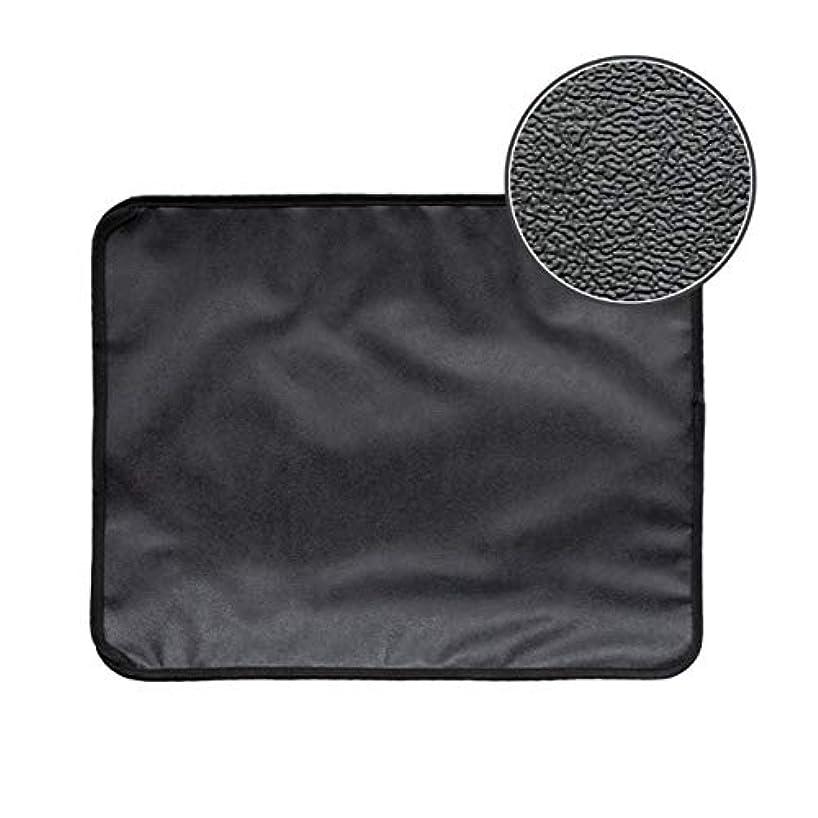 エレガントハチ不和Saikogoods 高弾性EVA 防水ボトム層と猫のトイレマット ブラック ダブルレイヤー 猫のトイレトラッパーマット 黒