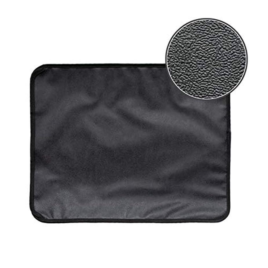 安定したモール甘美なSaikogoods 高弾性EVA 防水ボトム層と猫のトイレマット ブラック ダブルレイヤー 猫のトイレトラッパーマット 黒