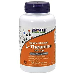 [海外直送品] ナウフーズ  L-Theanine Veg Capsules 200 mg 120 Count