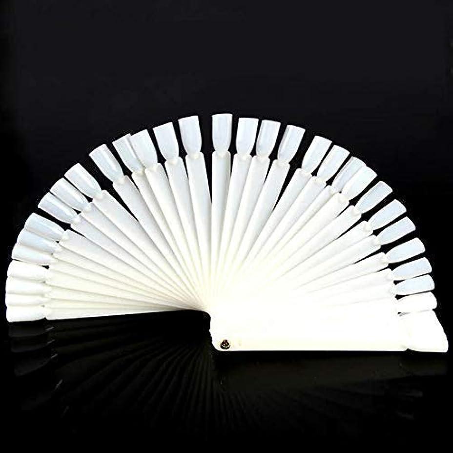 ラフ計算リレーOnior 50のヒント透明の扇形のネイルアートのヒント表示練習スティックツールマニキュアファン形状ジェル耐久性と実用的