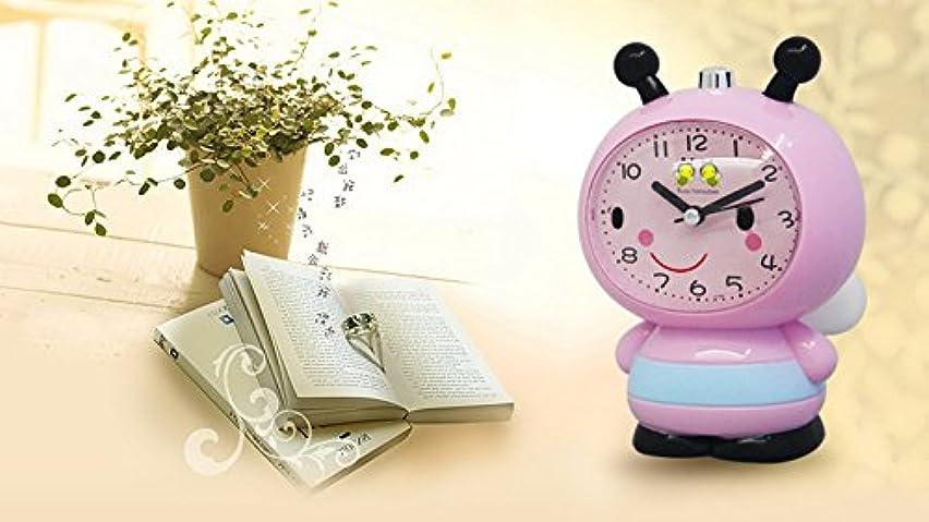 インタネットを見る作成者用心するかわいいミツバチの目覚まし時計 (Color : ピンク)