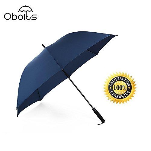 obolts Oversizeゴルフ傘、oboltsデュアルレイヤ防風&防水ユニセックスAuto Open & Close Straight傘耐久性と十分な強度