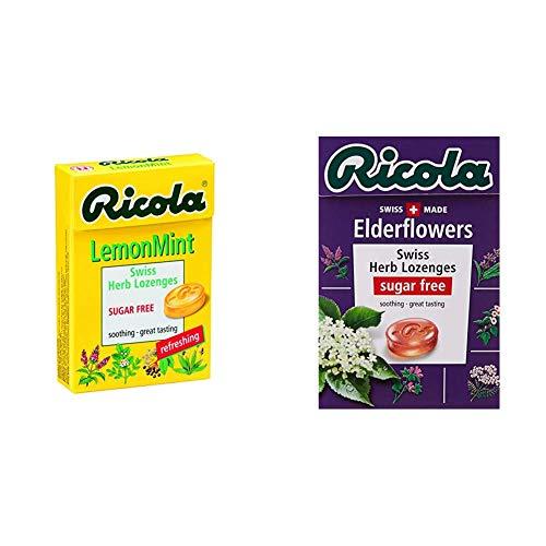 【セット買い】リコラ レモンミント ハーブキャンディ シュガーフリー 45g &  エルダーフラワー ハーブキャンディ シュガーフリー 45g