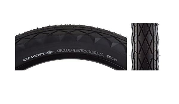 "Black//Black Origin8 Supercell Wire Bead Fat Bike Tires 26 x 4.0/"""