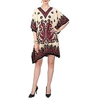 Miss Lavish London Women Kaftan Tunic Kimono Style Plus Size Dress for Loungewear Holidays Nightwear & Everyday Cover Up Tops #122