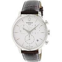 [ティソ] TISSOT 腕時計 トラディション シルバー文字盤 レザー T0636171603700 メンズ 【正規輸入品】