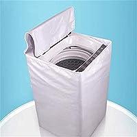 洗濯機カバー 防水 日焼け防止 外置き 紫外線対策 ほこり除け 防塵 ファスナー式 屋外 シルバー L