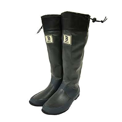 (BW-01)日本野鳥の会 バードウォッチング長靴 レインブーツ/ラバーブーツ グレー (3L)