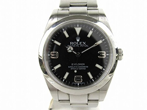 [ロレックス] ROLEX エクスプローラー1 腕時計 ウォッチ ブラック ステンレススチール(SS) 214270 G番 [中古]