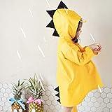 供 レインコート 雨具キッズ ポンチョ 小学生 通学 可愛い 男女兼用 防水 防風 雨合羽 アウトドア 収納ポーチ付き,Yellow,XL