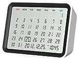 モトデザイン MONDO デジタルカレンダークロック(ホワイト) DT06-WH