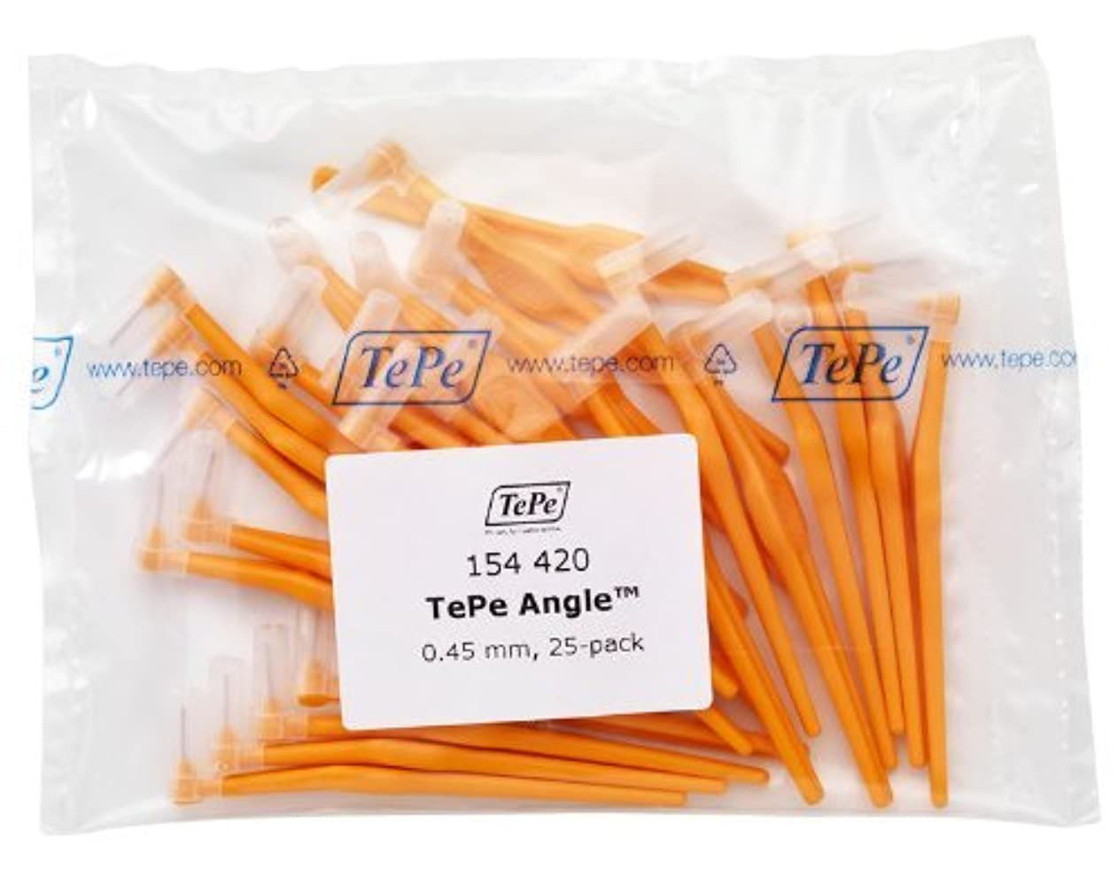 救いフレームワーク幸福TePe Interdental Brush Angle - Orange 0.45mm 25 Pack by TePe Munhygienprodukter AB, Sweden [並行輸入品]