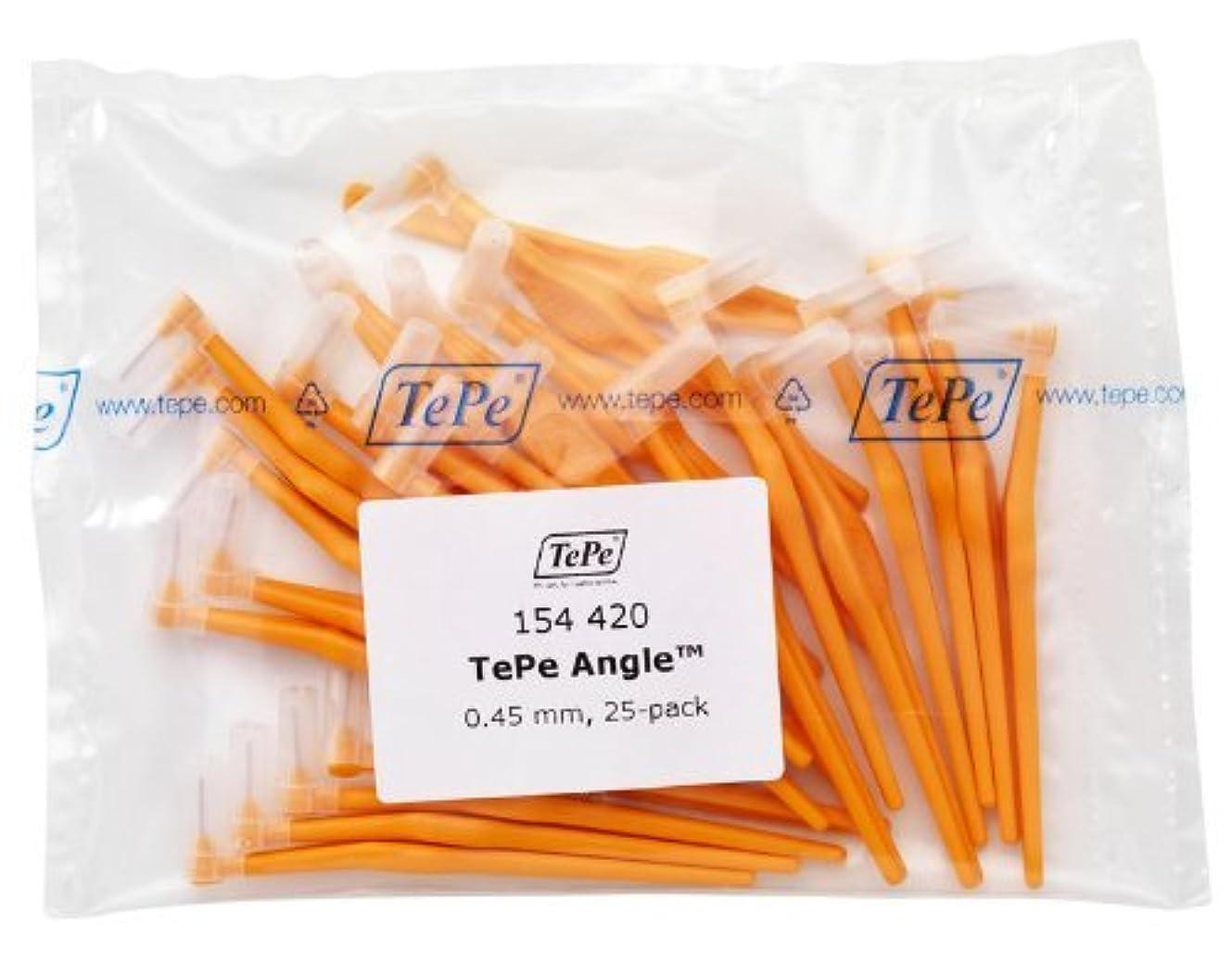 イタリアのダブル音楽を聴くTePe Interdental Brush Angle - Orange 0.45mm 25 Pack by TePe Munhygienprodukter AB, Sweden [並行輸入品]