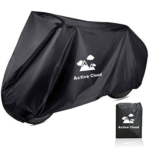 Active Cloud 自転車カバー サイクルカバー 2018最新デザイン 210T 厚手 防水 UVカット 日焼け止め 風飛び防止 耐久性あり 29インチまで対応 1年間品質保証 [収納袋と雑巾付き] (baise)