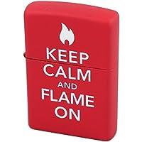 ZIPPO(ジッポ) オイルライター KEEP CALM and FLAME ON レッドマット 28671