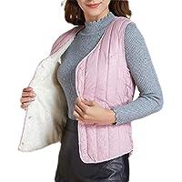 Women's Vest Lightweight Quilted High Collar Zip Vest Padded Gilet