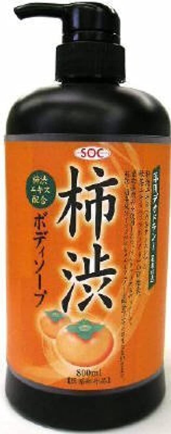 魅力的裕福な機動渋谷油脂 SOC 薬用柿渋ボディソープ 本体 800ml お肌にマイルドなせっけんタイプのボディソープ フルーティーフローラルのさわやかな香り×12点セット (4974297276010)