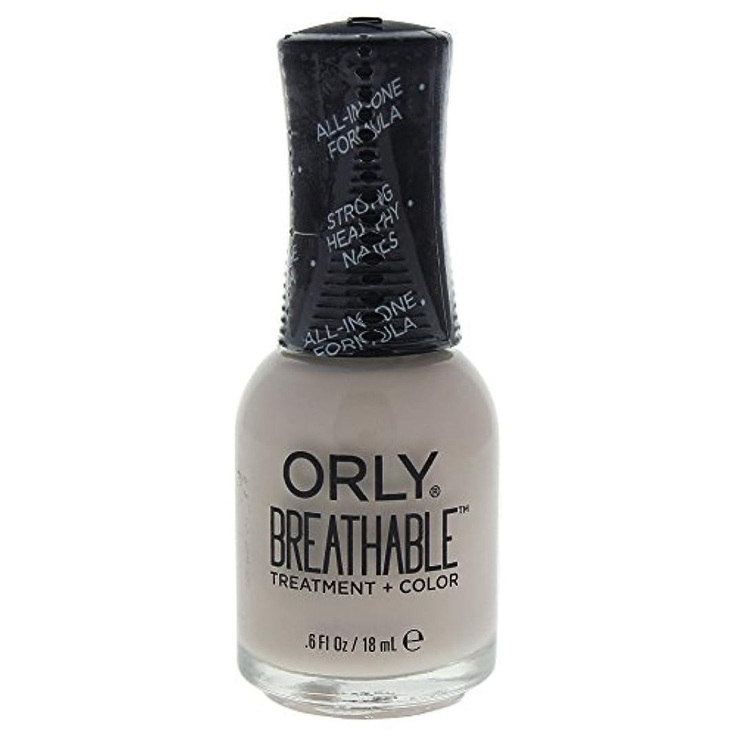 時間扇動廃止するOrly Breathable Treatment + Color Nail Lacquer - Almond Milk - 0.6oz / 18ml