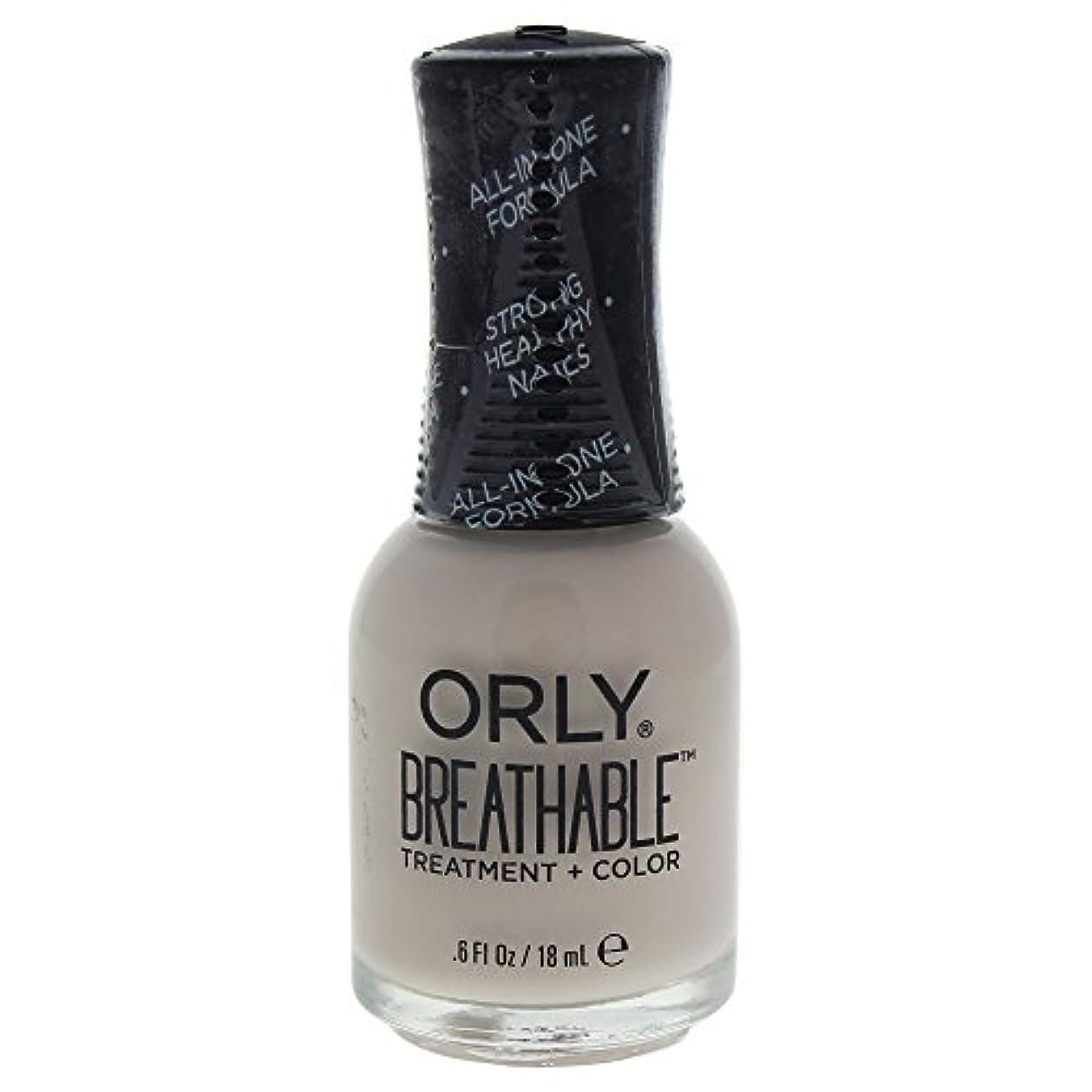 岸時制一元化するOrly Breathable Treatment + Color Nail Lacquer - Almond Milk - 0.6oz / 18ml