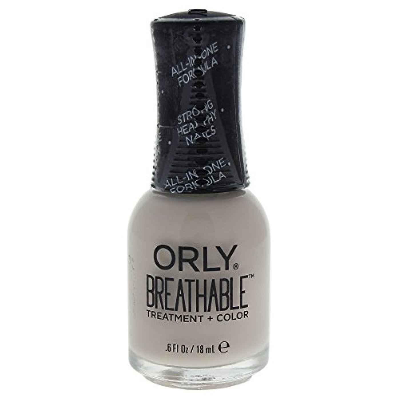 コンプリートパイロット臨検Orly Breathable Treatment + Color Nail Lacquer - Almond Milk - 0.6oz / 18ml