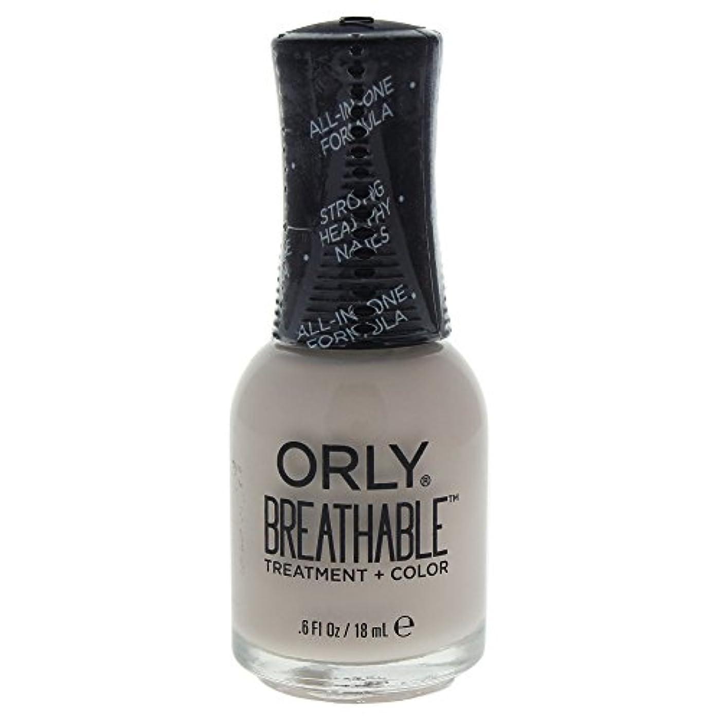 急襲霧深いなぜOrly Breathable Treatment + Color Nail Lacquer - Almond Milk - 0.6oz / 18ml