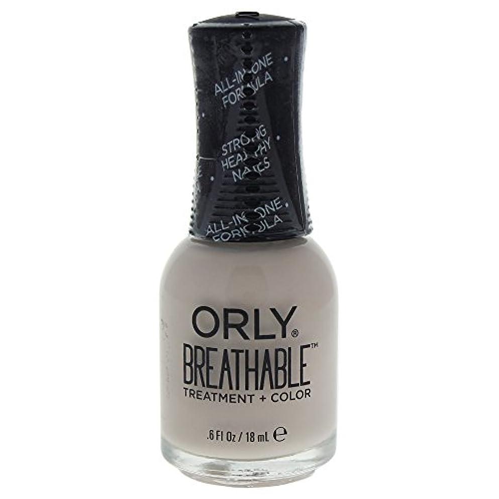 まばたき再開覆すOrly Breathable Treatment + Color Nail Lacquer - Almond Milk - 0.6oz / 18ml