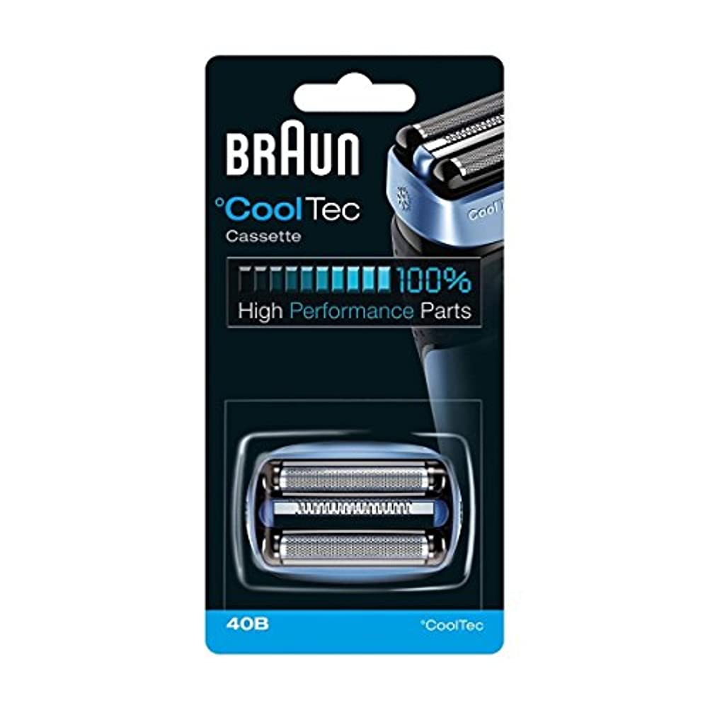 政権滑り台すなわちBRAUN 40B Foil and Cutter Replacement Cartridge for CoolTec shavers series [並行輸入品]