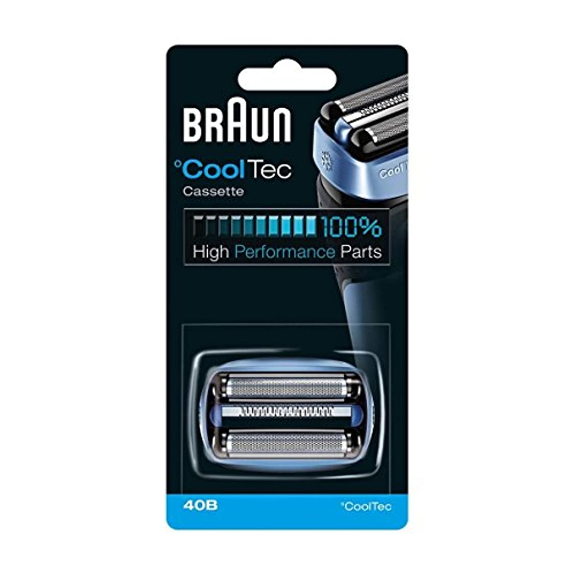 【並行輸入品】BRAUN 40B Foil and Cutter Replacement Cartridge for CoolTec shavers series