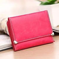 Shoulder Bag Womens Wallets Cute Matte Buckle Short Wallet Wallet Purse Handbag Clutch (Color : B)