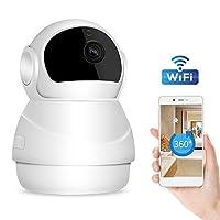 ネットワークカメラ 1080P 200万画素 WIFI 防犯カメラ ワイヤレス IPカメラ 暗視赤外線LED 音声/動体検知 双方向会話 遠隔操作 ペット/子供 見守り