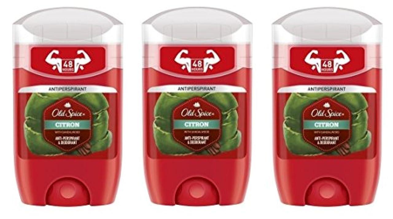 ブラスト蓮パニック(Pack of 3) Old Spice Citron with Sandalwood Antiperspirant Deodorant Solid Stick for Men 3x50ml - (3パック) オールドスパイスシトロンサンダルウッド制汗剤デオドラントソリッドスティック男性用3x50ml