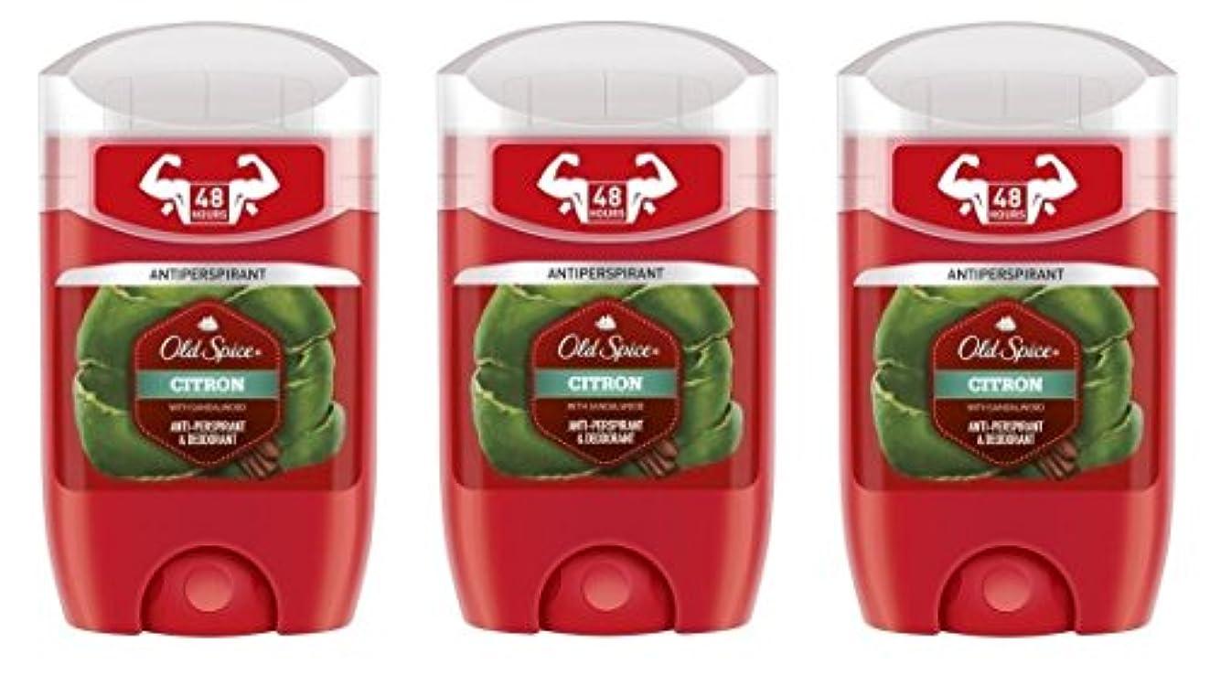 固執レッドデート泥沼(Pack of 3) Old Spice Citron with Sandalwood Antiperspirant Deodorant Solid Stick for Men 3x50ml - (3パック) オールドスパイスシトロンサンダルウッド...